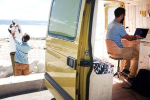 Coworking à la plage