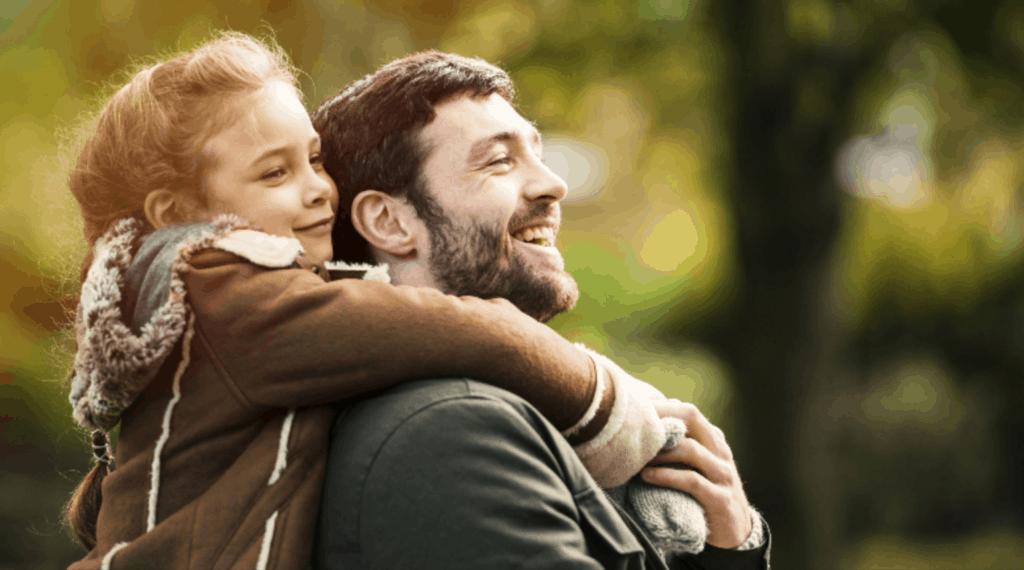 Petite fille avec son papa